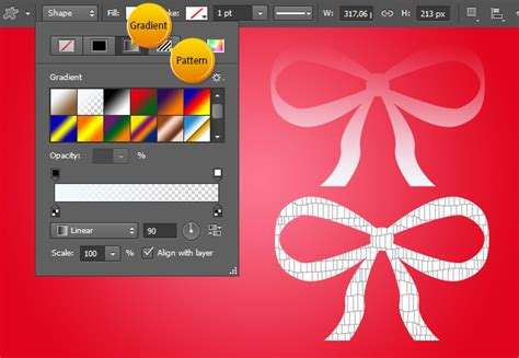pattern options photoshop vector layer shape options in photoshop cs6 tutorials