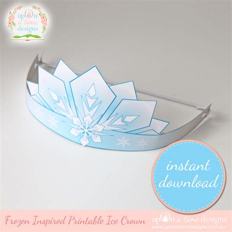 printable frozen crown template 9 best images of printable frozen crafts frozen free