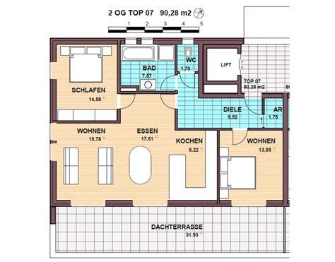 wohnung 65 m2 grundriss penthouse wohnung top 07 90 m2 wohnanlage europastra 223 e
