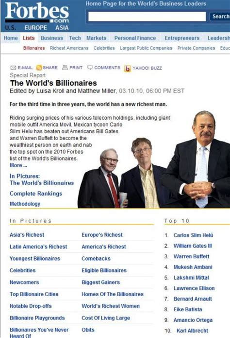 mexican tops world s rich list as billionaires from emerging markets grow o brien is ireland s