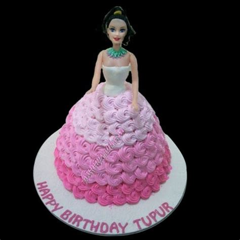 barbie doll cake   home delivery yummycake