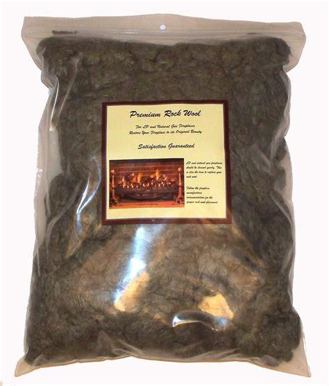 1 lb gas log fireplace rock wool glowing embers rockwool