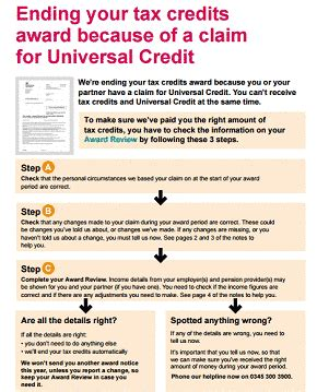 Hmrc Tax Credit Award Letter stop claiming tax credits how to end tax credit claim