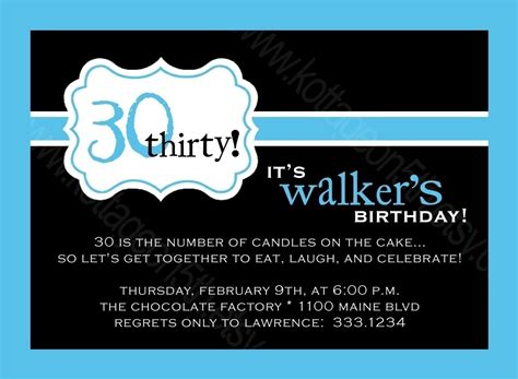 40th birthday invitations for men template best template