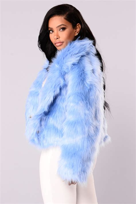 Parka Baby Blue baby blues faux fur jacket blue
