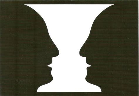 Two Faces Or A Vase by Postcard Nl 824401 Psychologist Edgar J Rubin