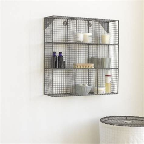wire bathroom shelf waffle pinterest wall mount mesh and changing tables