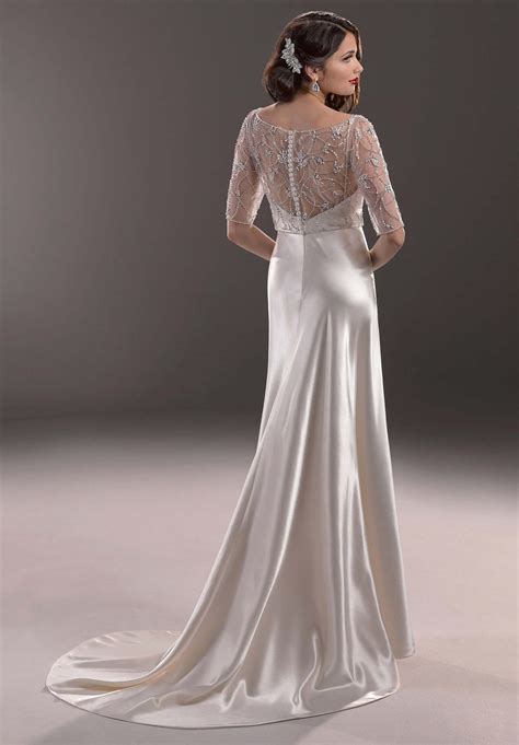 Satin Wedding Dresses vintage satin wedding dresses sang maestro