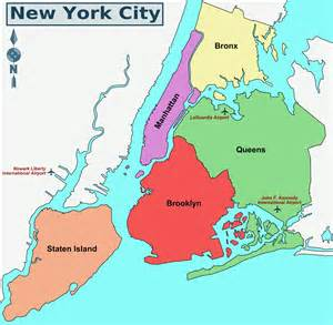Map Of New York City Boroughs by Boroughs New York City