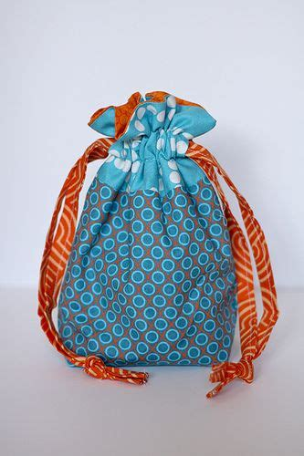 pattern lined drawstring bag lined drawstring bag pattern to sew pinterest