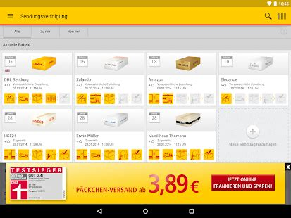 Paket For Androidios dhl paket f 252 r android und ios erh 228 lt neue features