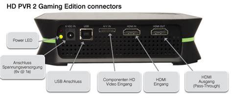 hdmi eingang am pc hauppauge hd pvr 2 gaming edition hardware