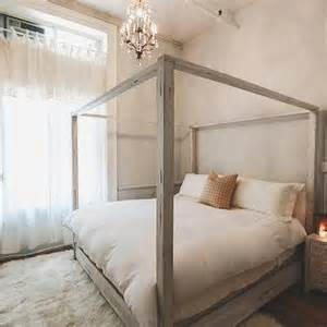 Black Distressed Canopy Bed Distressed Gray Canopy Bed