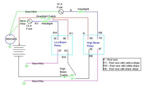 wiring headlight relays jeffdoedesign