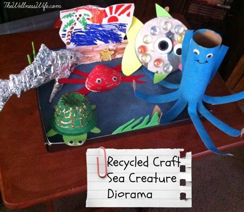 sea creature crafts for recycled craft sea creature diorama the wellness