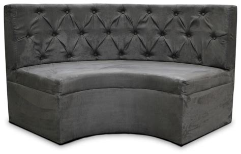 High Seating Sofas Curved 5 Tufted Booth Charcoal Suede Designer8