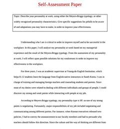 self review template sle employee self evaluation form 14 free documents