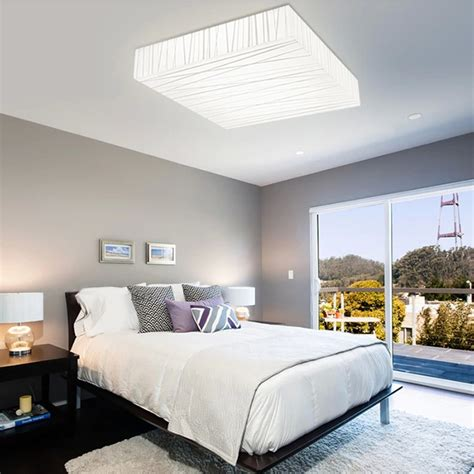 contemporary bedroom ceiling lights 12w modern square led ceiling light living dining room bedroom simple style l ebay