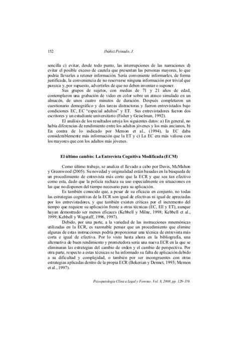 preguntas de entrevista cognitiva critrios sobre entrevista cognitiva para evalucaciones