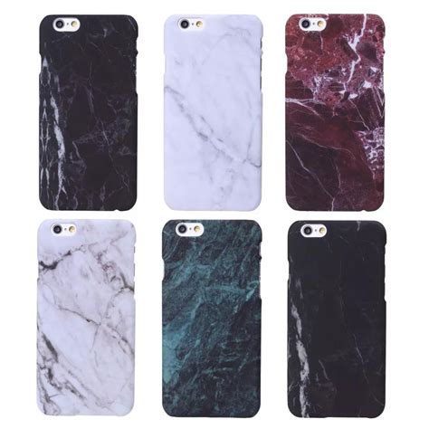 Slim Black Matte Glossy Iphone 6 6g 6s Anti Minyak Softcase Jelly new fashion granite marble texture fundas capa matte slim plastic phone cases cover for iphone 7