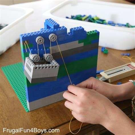 lego challenges for children simple machines for lego pulleys stem building challenge
