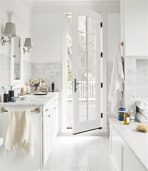 white bathrooms white and gray bathroom transitional bathroom country living