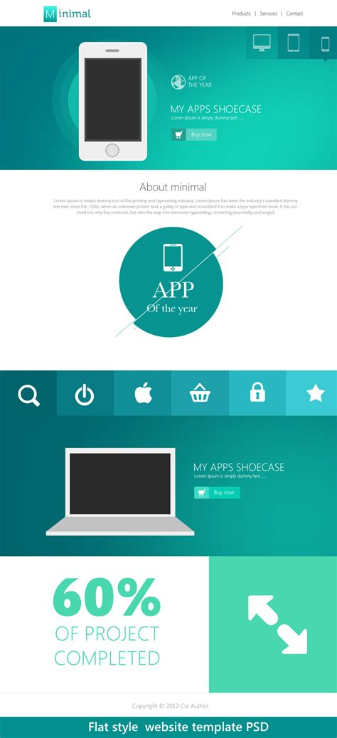 flat psd template 16 premium and free psd website templates