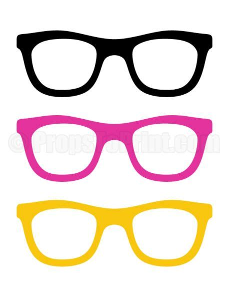 printable sunglasses photo booth prop create diy props