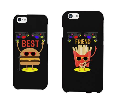 best friend phone cases phone cover bff friendship phone hamburger fries best friend phone cases best friends