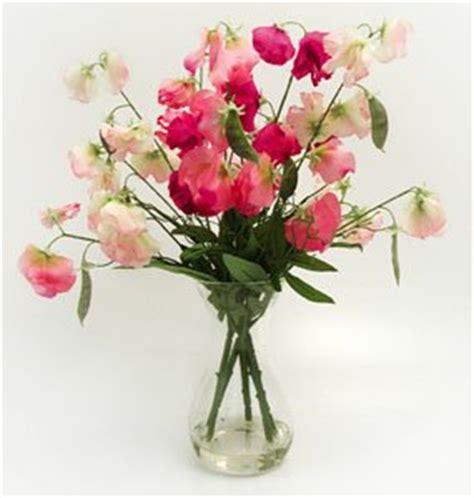 Artificial Flowers In Vase Uk by Pretty Artificial Silk Sweetpeas Flowers In Glass Vase