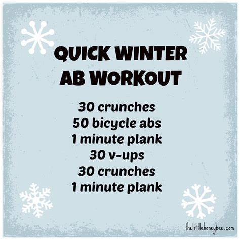 winter ab workout the honey bee