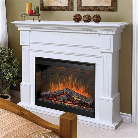 large white electric fireplace dimplex sussex electric fireplace mantel package in white