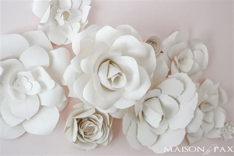 How To Make A Paper Flower Wall - paper flower wall in the nursery maison de pax
