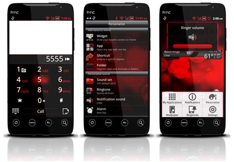 themes for htc evo 3d theme 12 10 red hot synergy 3d v5 htc supersonic