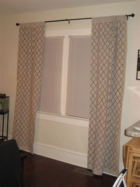 stenciled drop cloth curtains stenciled drop cloth curtains for the home pinterest