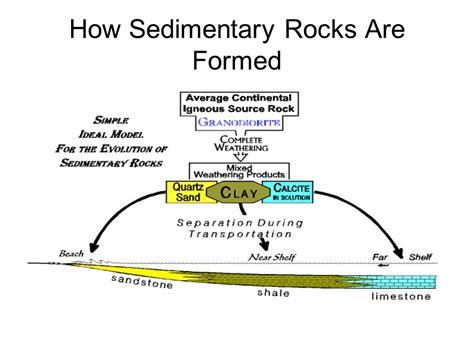 diagram of how sedimentary rocks are formed quartz sandstone limestone ppt