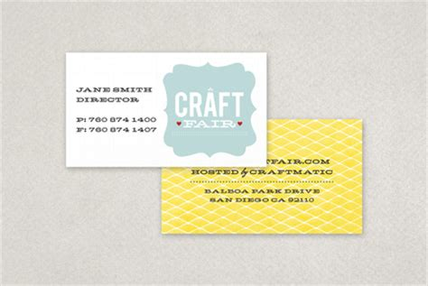 craft business card templates retro craft fair business card template inkd