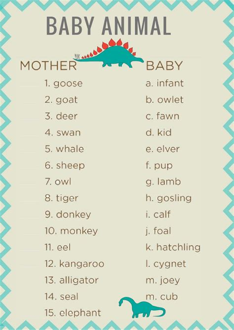 Name The Baby Animal Baby Shower by Best 25 Baby Animal Names Ideas On Baby