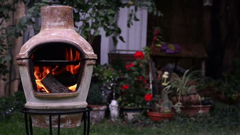 Ceramic Outdoor Fireplace by Outdoor Fireplace Chimenea Ceramic Open Garden