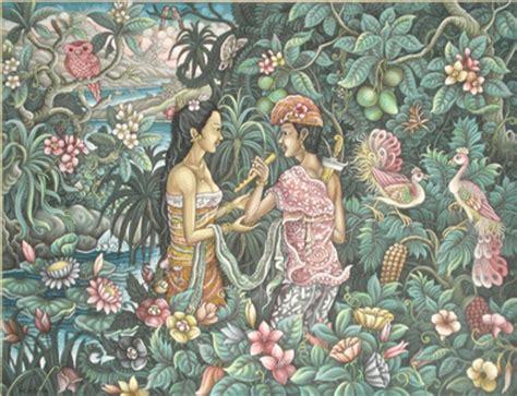 Lukisan Bali Jayaprana Layonsari Rakyat Pulau Dewata Kisah Jayaprana Dan Layonsari