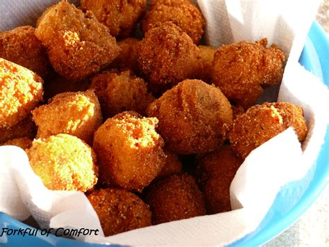 southern hush puppies forkful of comfort hush puppies