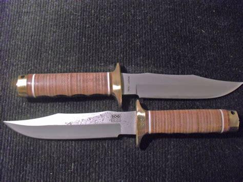 sog s1 bowie sog bowie damascus s1d sog knives collectors