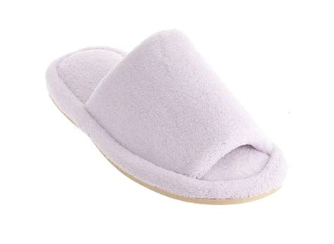 memory foam house shoes open toe terry slippers with memory foam nature s sleep