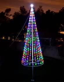 Flagpole christmas tree kit multicolor uncommon usa christmas trees