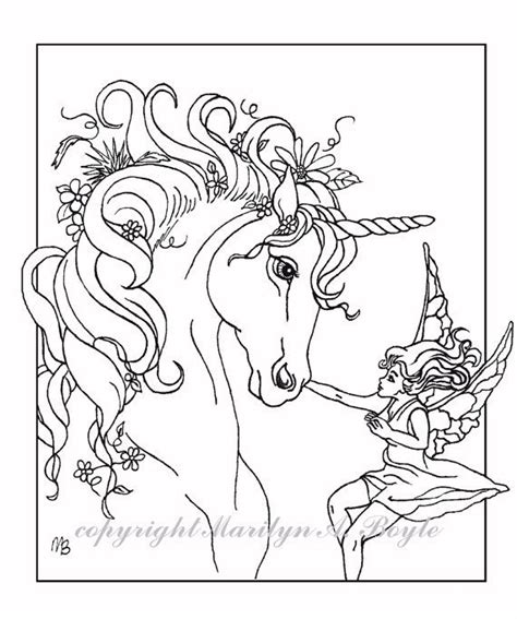 fairy unicorn coloring page set of four poster or coloring pages fantasy unicorn