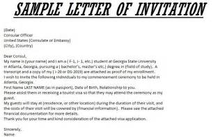 Invitation Letter Sle For Us B2 Visa Invitation Letter For Us Visa Template Resume Builder