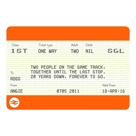 printable train tickets uk personalised train ticket anniversary print by of life
