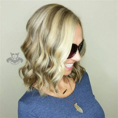 blonde swing bob icy neutral blonde with beige lowlights shoulder length