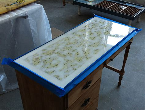 resin bench tops stone on laminate countertops then is covered with a clear