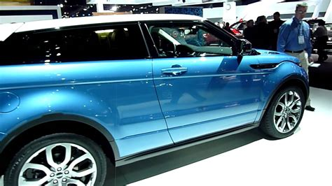 2012 Range Rover Evoque Coupe In Blue With White Top Youtube